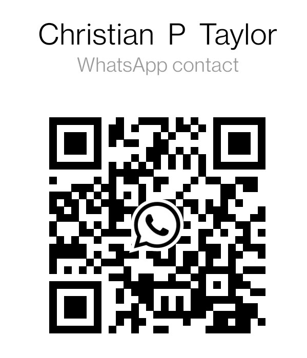 WhatsApp QR Code to Add Christian P Taylor as a Contact