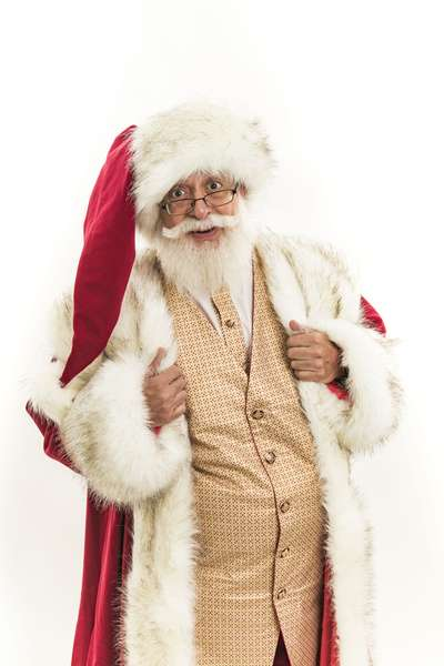 Chris P Santa is Cheerful and Happy to See You